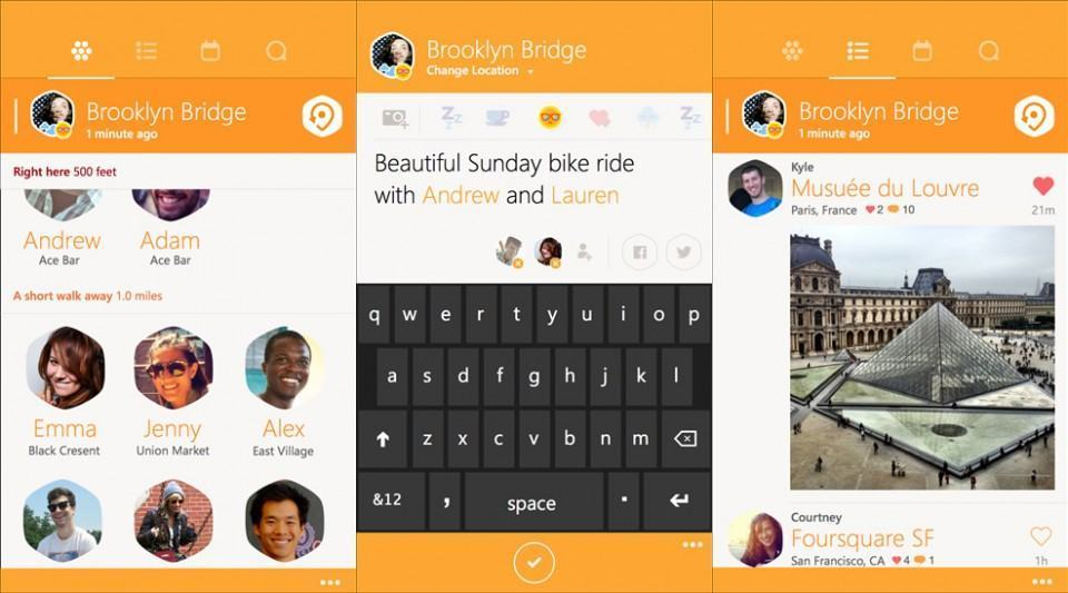 Screenshots do Swarm.