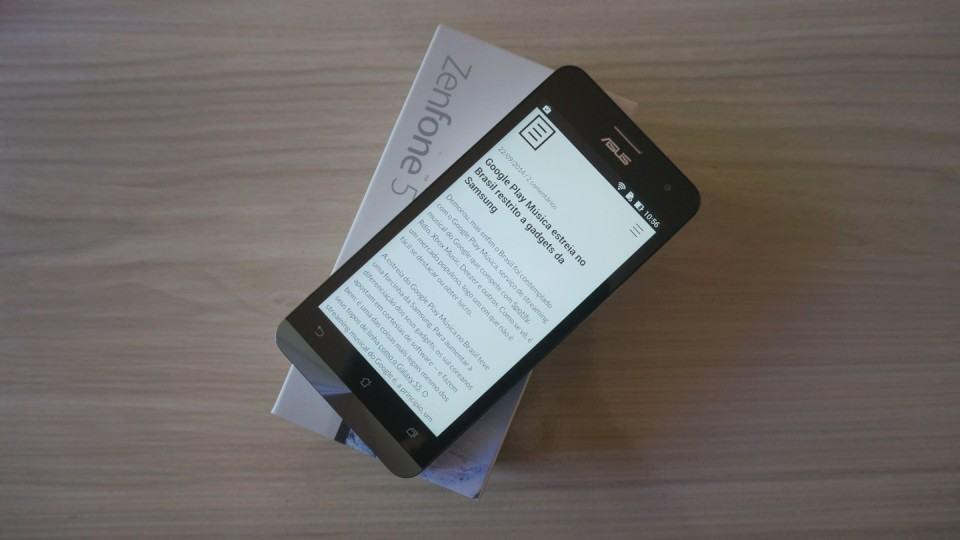 Zenfone 5, estreia da Asus em smartphones no Brasil.