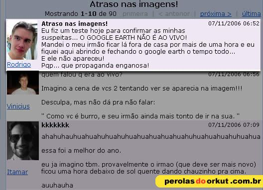 Grande momento do Orkut.