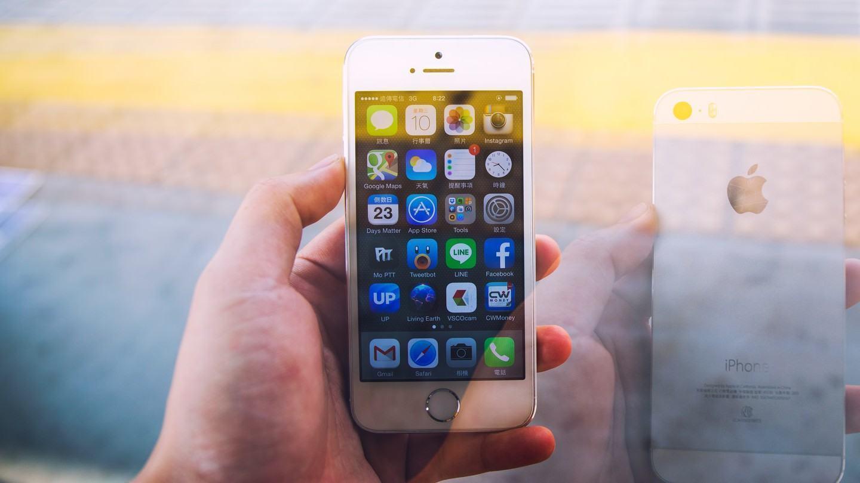 iPhone 5s em dupla exposição.