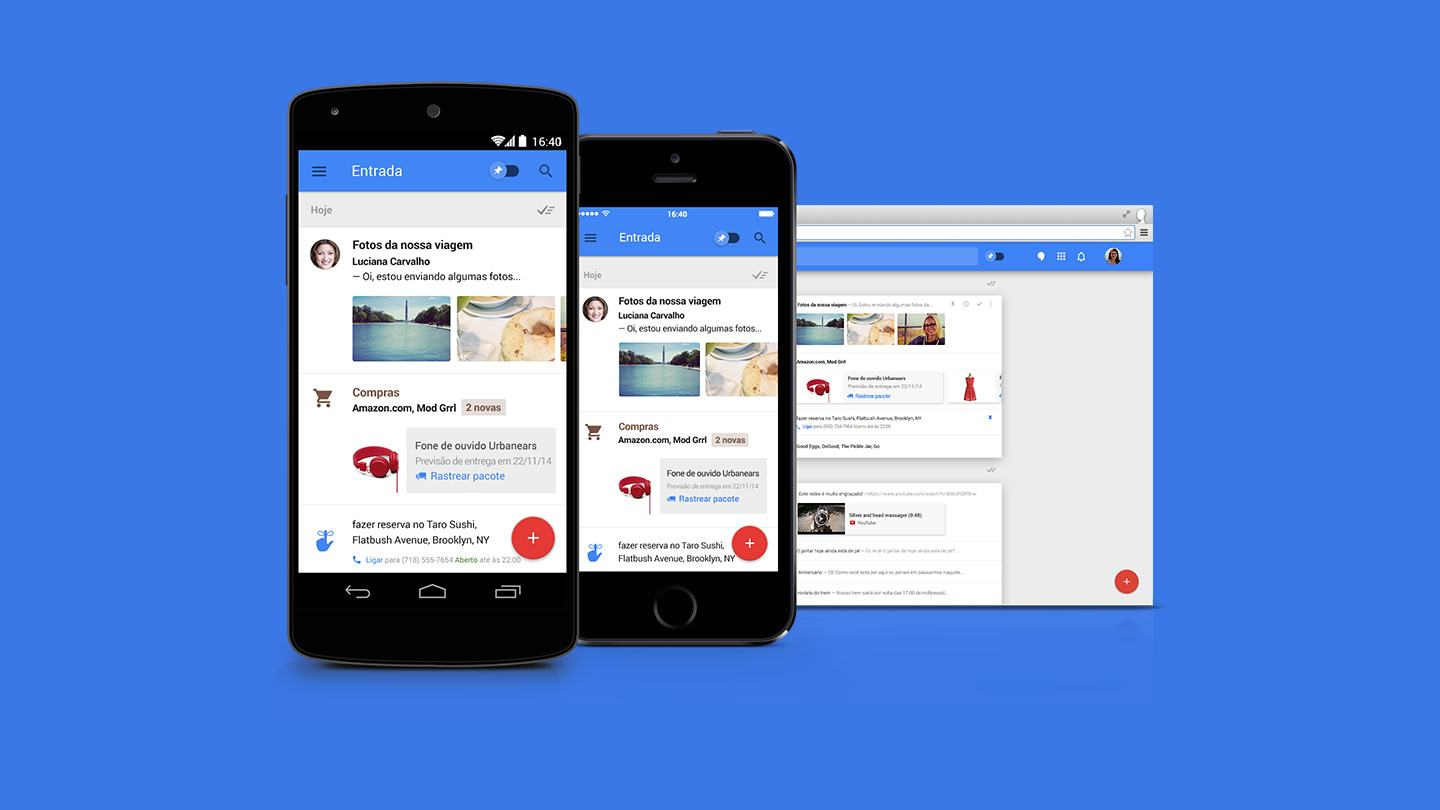 Inbox, o novo app de e-mail do Google, leva o poder do Google Now ao Gmail