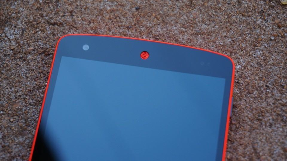 Detalhe no Nexus 5.