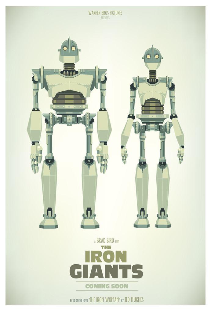 Pôster de Robôs Gigantes.