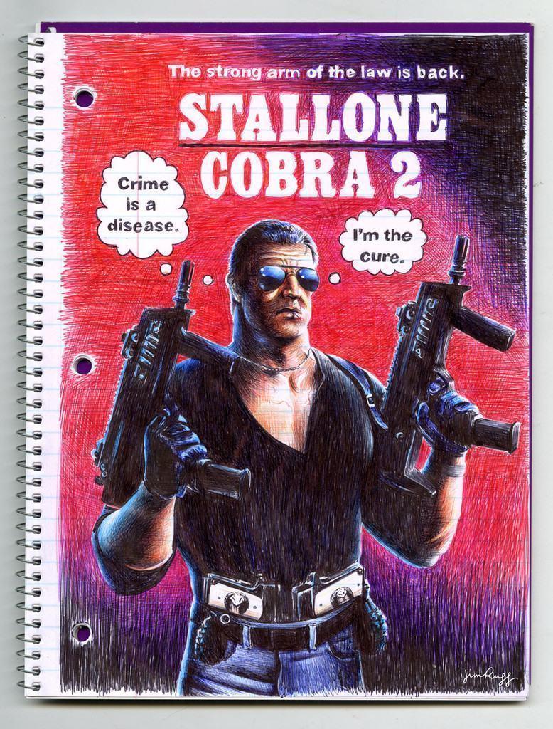 Pôster de Stallone Cobra 2.