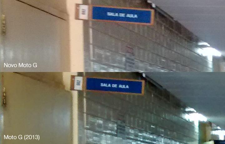 Duas fotos internas, com pouca iluminação.