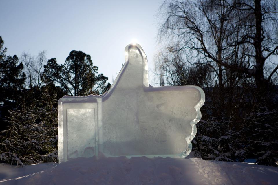 Curtir feito de gelo.