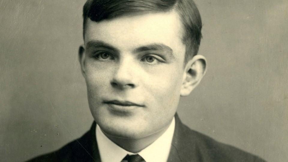 Alan Turing aos 16 anos.