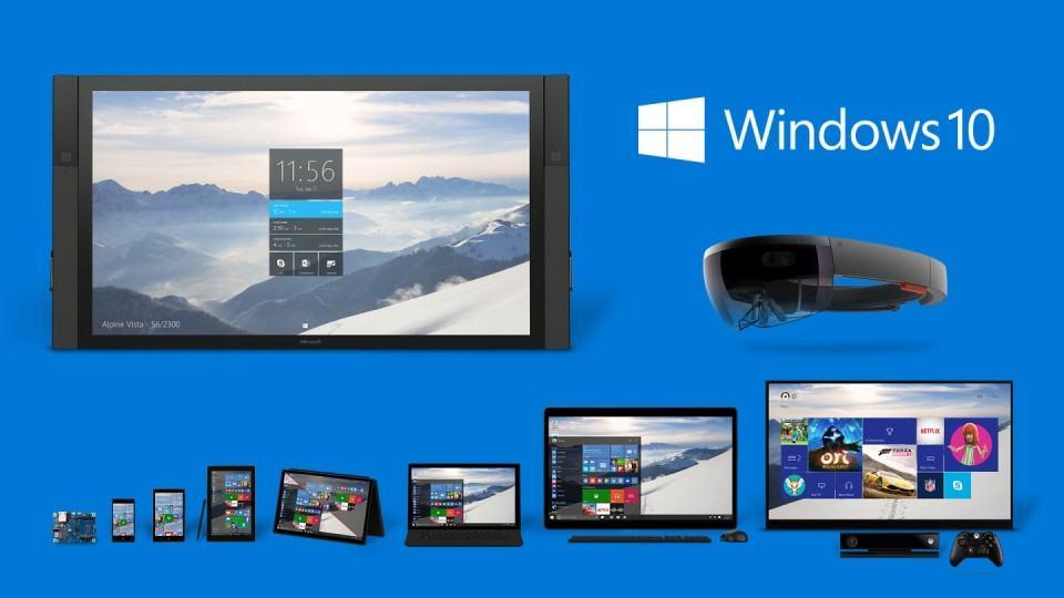 Todos os produtos que rodarão Windows 10.