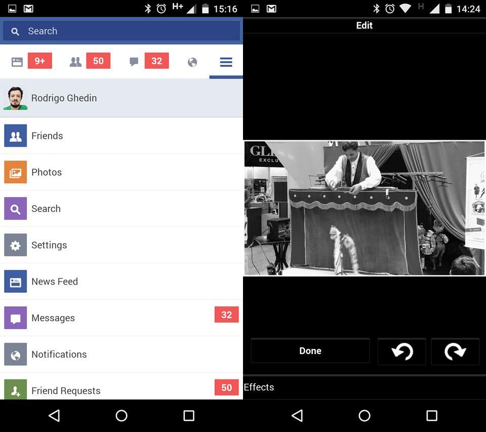 Facebook lite faz jus ao nome o novo app realmente leve menu e edio de foto no facebook lite stopboris Image collections