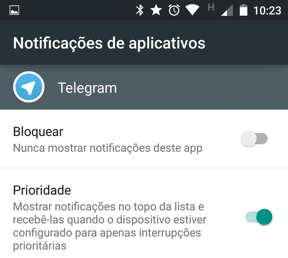 Você escolhe quais apps podem interrompê-lo no Modo Prioridade.