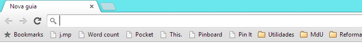 Bookmarklets na barra de favoritos do Chrome.