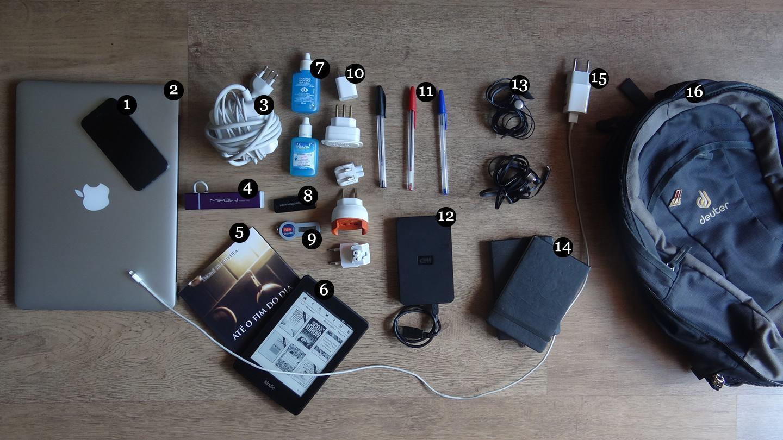 O que tem na mochila do Fabio Bracht.