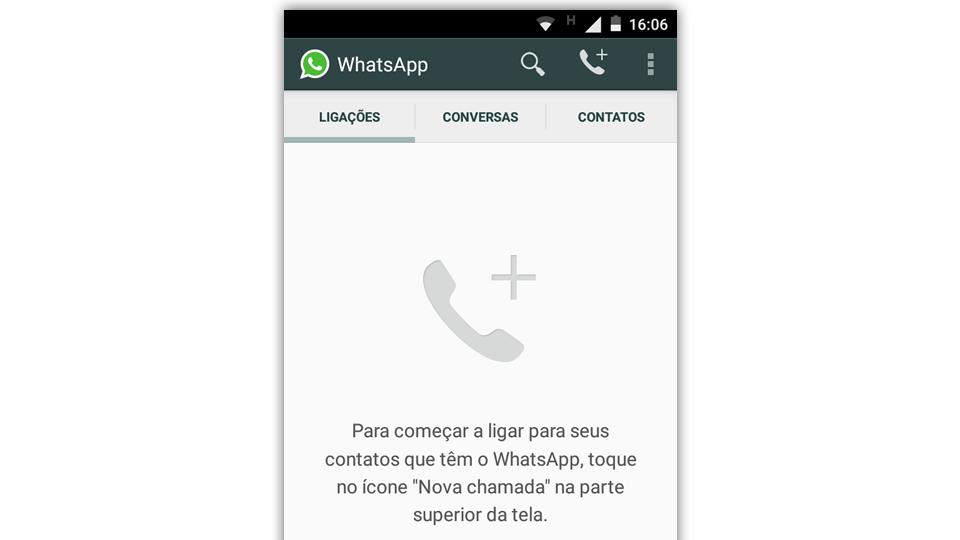 Novas abas no WhatsApp com ligações.