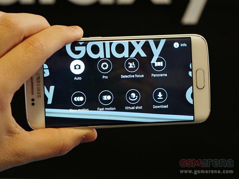 Foto do seletor de modo da câmera do Galaxy S6.