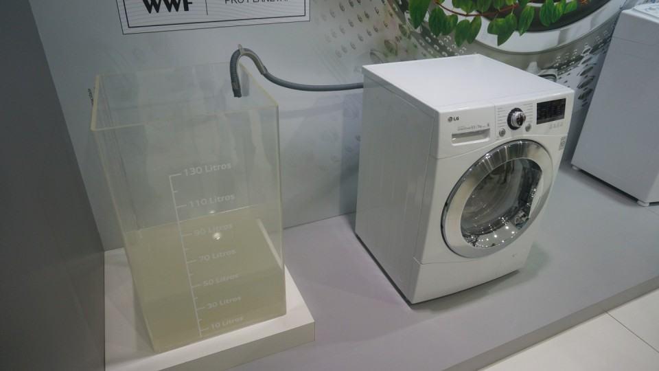 Máquina de lavar que economiza água.