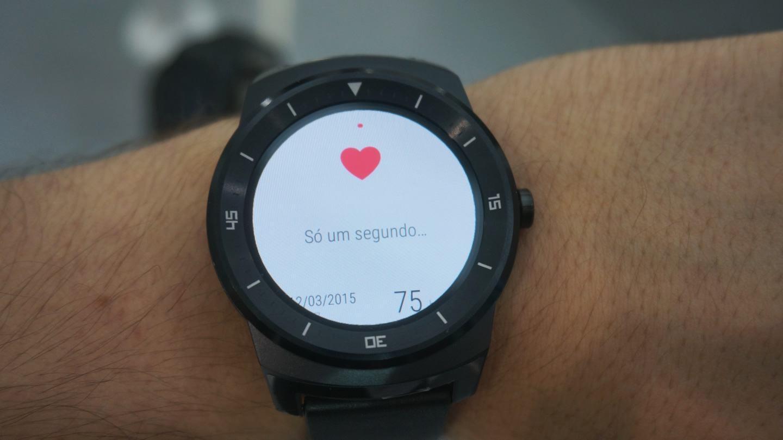 Monitor cardíaco do G Watch R.