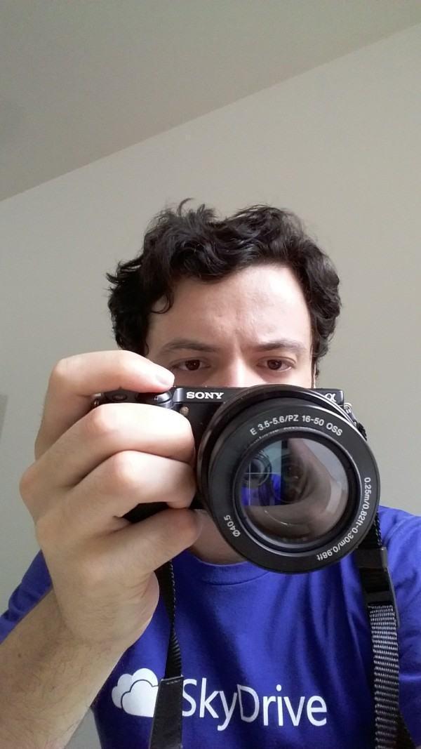 Selfie feita com o Galaxy Gran Prime.