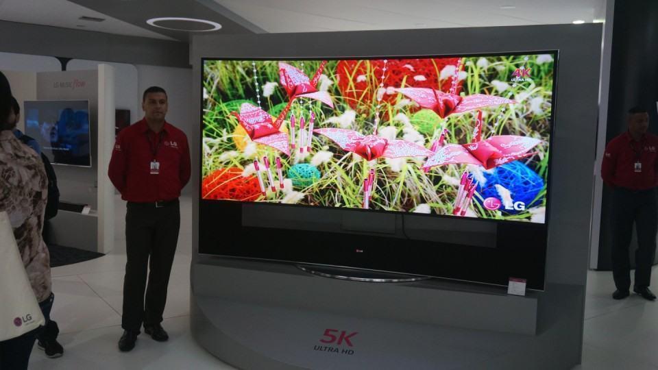 TV Ultra HD de 105 polegadas da LG.