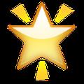 Emoji de estrela no Snapchat.
