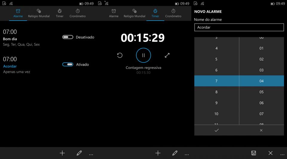 O novo app de Alarme está mais útil.