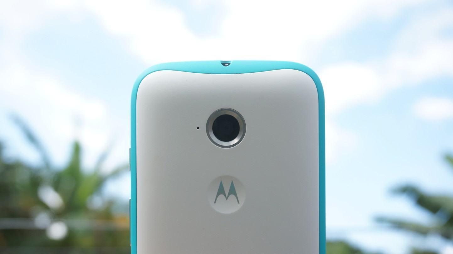 Detalha na câmera principal do Moto E.