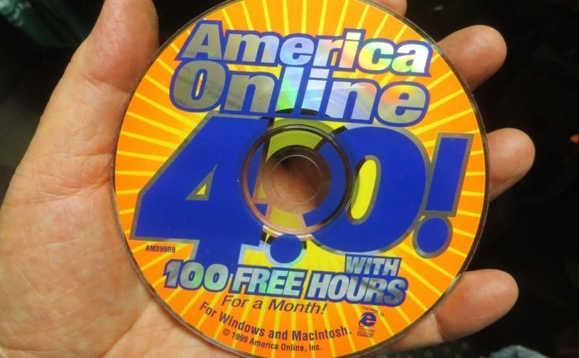 Em 1998, a Aol usou toda a capacidade de produção de CDs do planeta