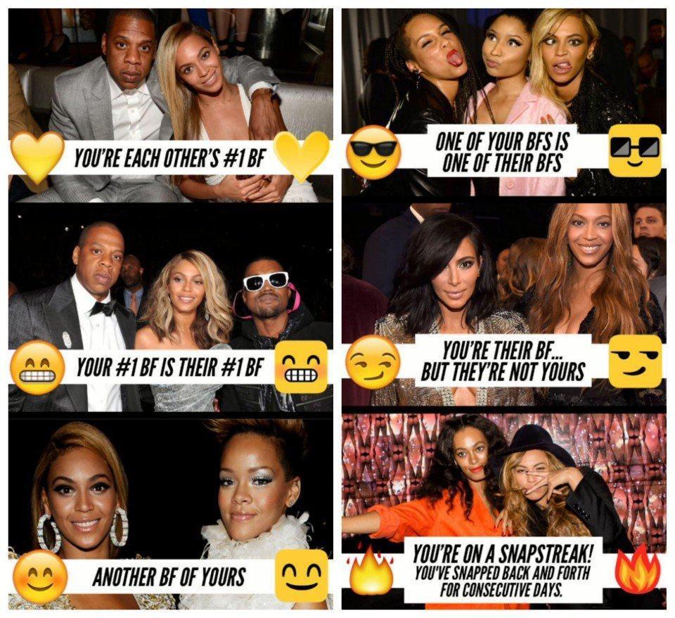 O que significam os emojis da lista de amigos no Snapchat.