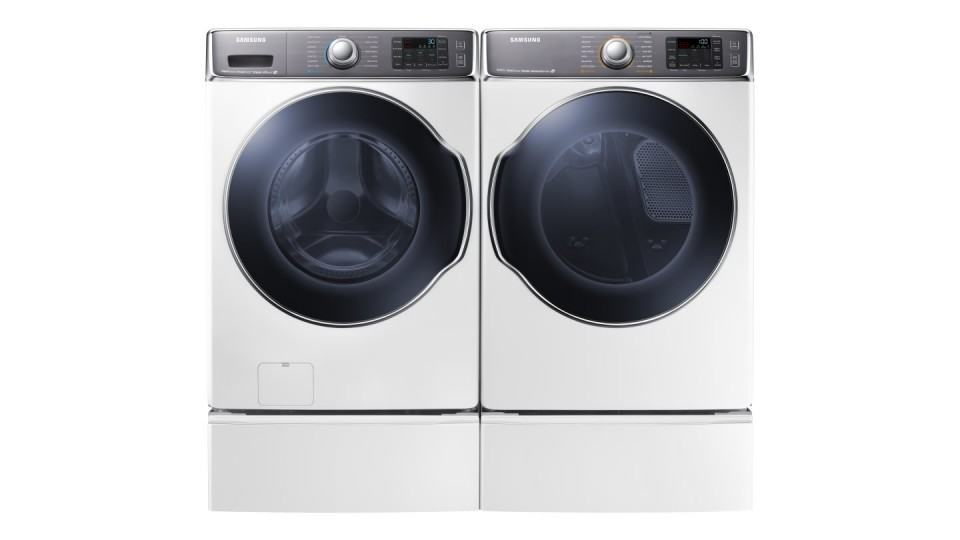 Máquina de lavar apresentada pela Samsung na CES 2014.
