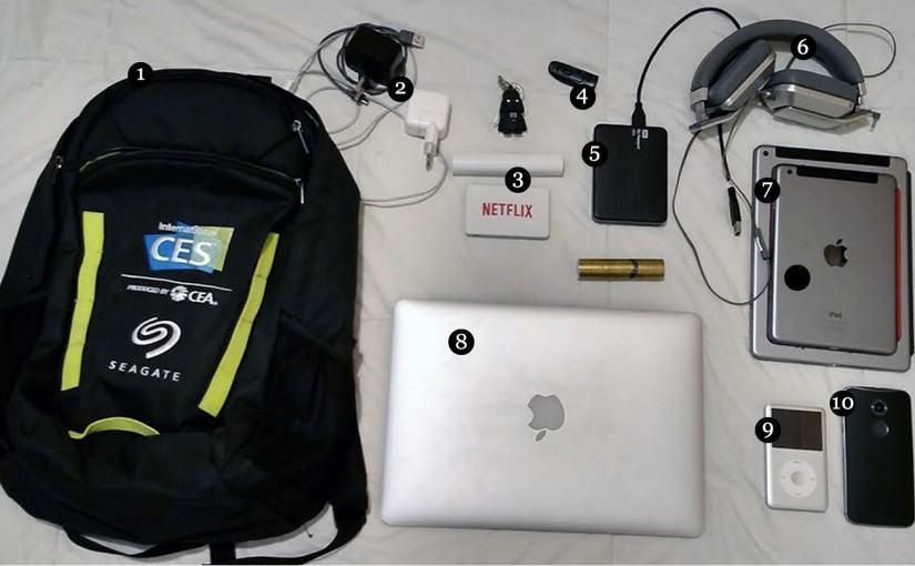 O que tem na sua mochila, Nick Ellis?
