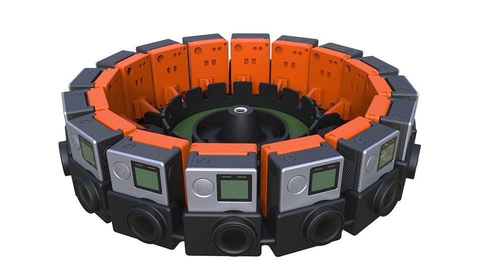 Câmera (ou câmeras) da GoPro para filmagem de realidade virtual.
