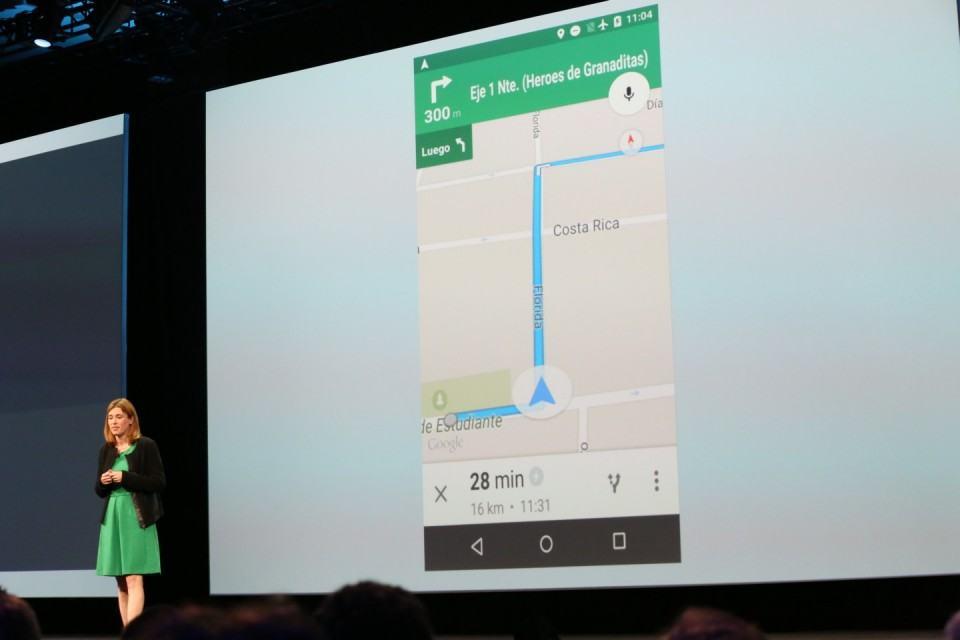 Demonstração do Google Maps offline.