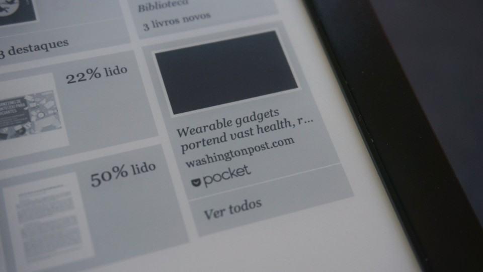 Integração suave com o Pocket, direto na tela inicial.