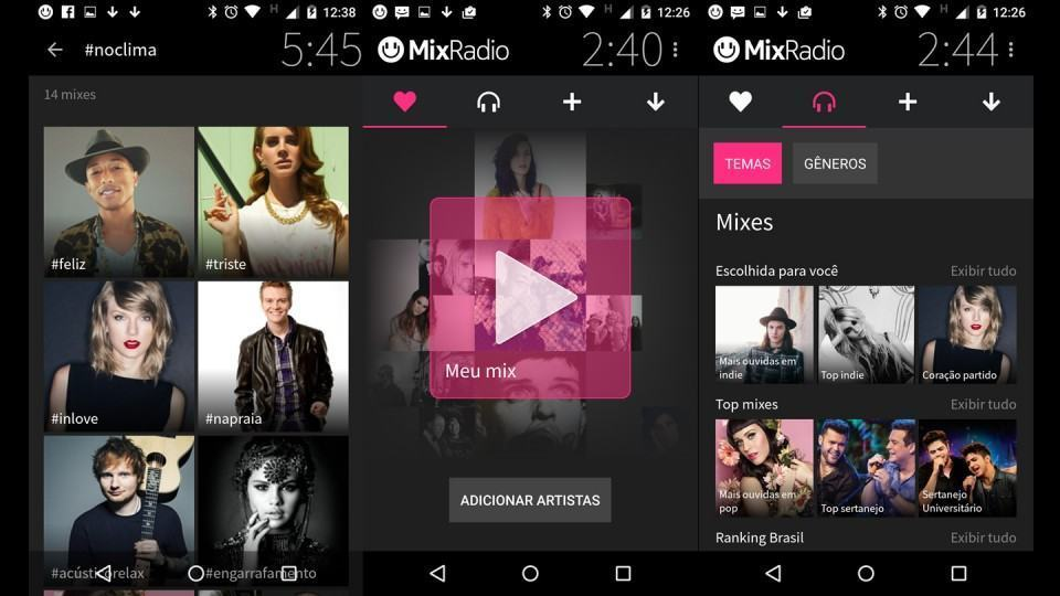 Mixes e Seu Mix, no MixRadio. Quanto Mix!