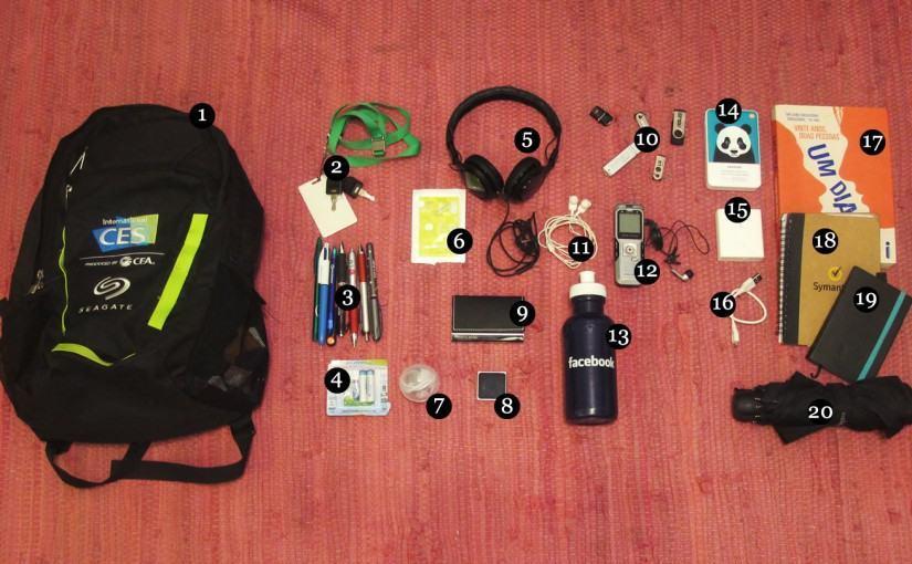O que tem na sua mochila, Emily Canto Nunes?