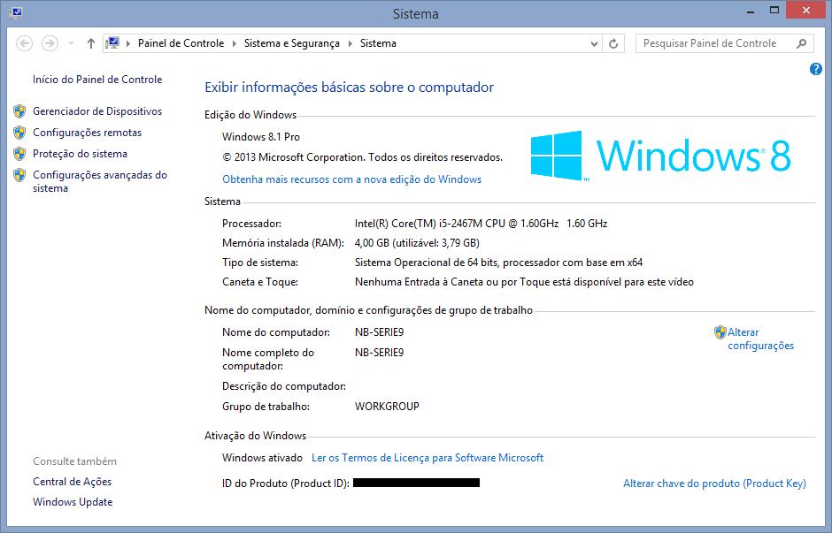 Qual versão do Windows você está usando.