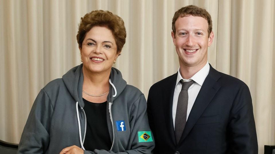 Dilma Rousseff e Mark Zuckerberg.
