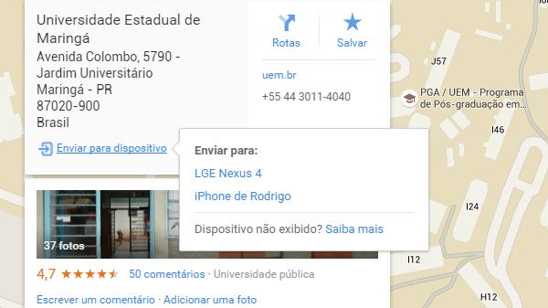 iPhone ou Android, agora os dois sistemas recebem direções do Google Maps na web.
