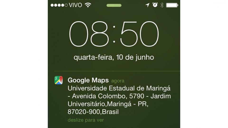 Endereço do Google Maps recebido!