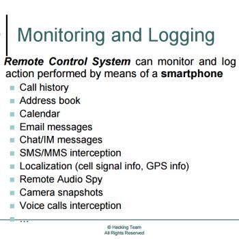 Monitoramento e registro.