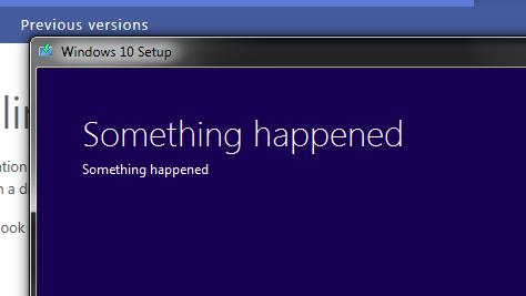 Alguma coisa aconteceu.