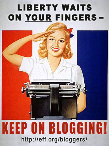 Cartaz sobre blogs.