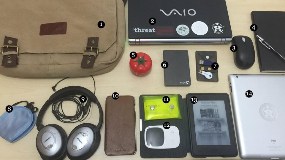 O que tem na sua mochila, Fábio Assolini?