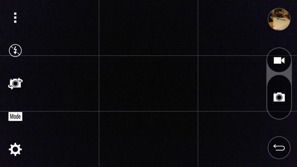 Interface da câmera do G4.