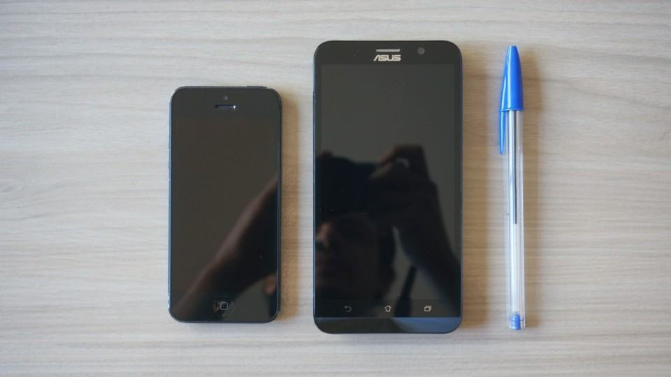 iPhone 5, Zenfone 2 e caneta BIC