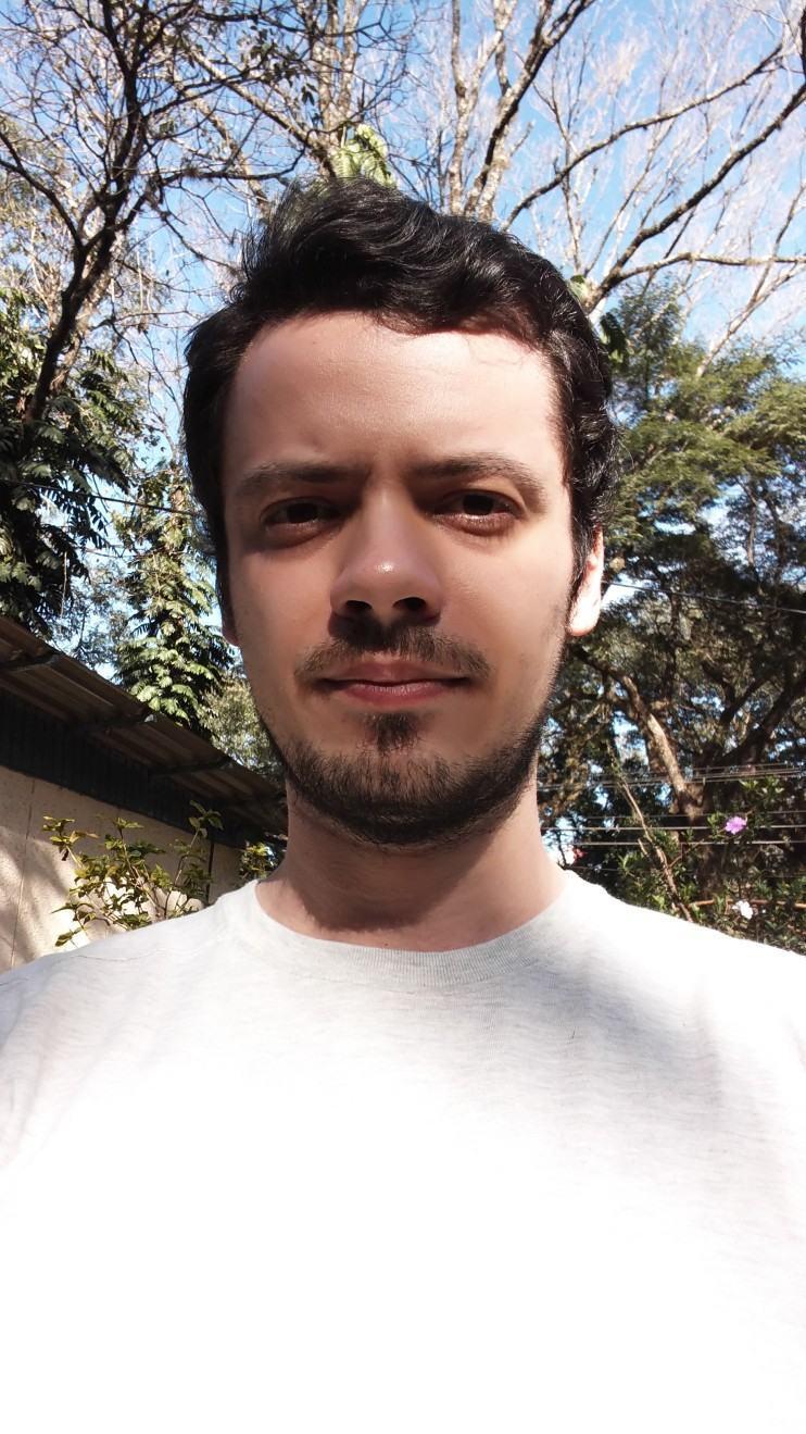 Selfie com a câmera frontal do G4.