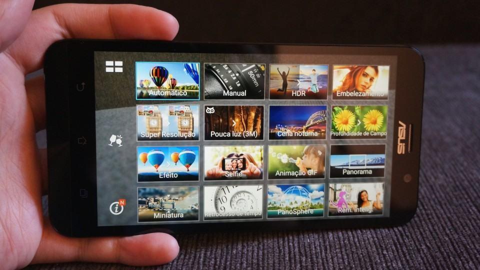Modos de câmera do Zenfone 2.