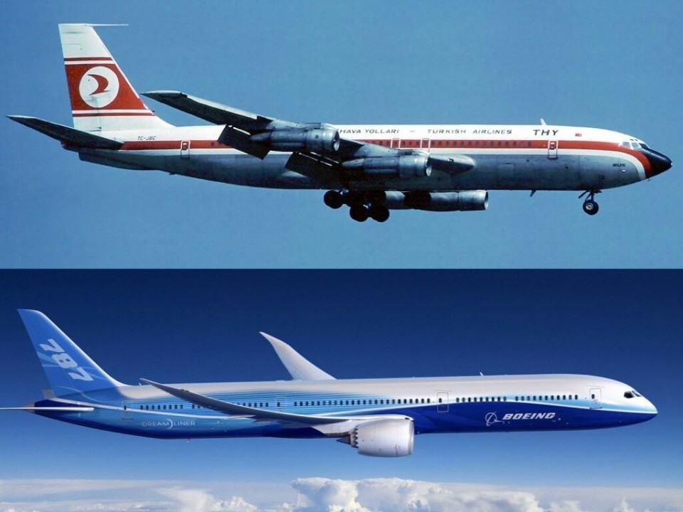 Boeing 747 e 787.