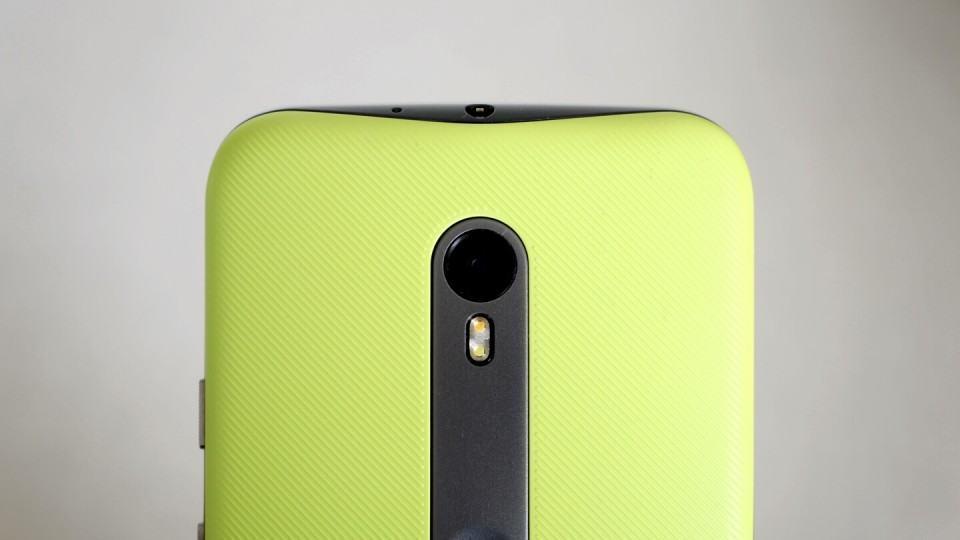 Detalhe da câmera do Moto G.
