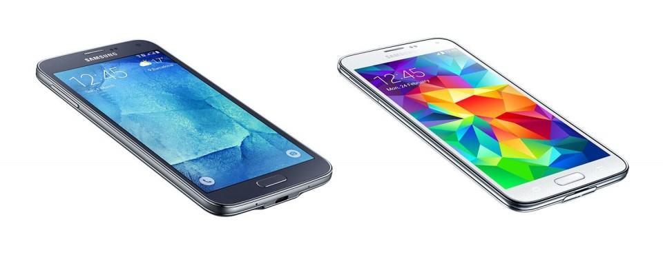 Galaxy S5 New Edition e a versão antiga ao lado.