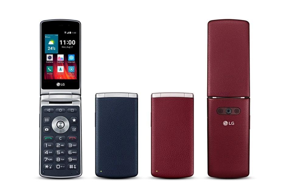 LG Wine Smart, celular de flip em 2015.